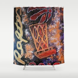 raptors 4,champion,basketball,gold,poster,wall art,2019,winners,NBA,finals,toronto,canada,painting Shower Curtain
