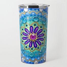 Pretty Glittery Jewelled Mandala Travel Mug