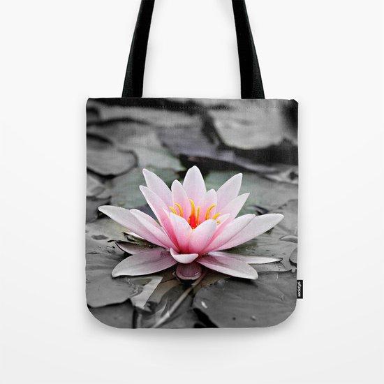 Pink Lotus Flower Waterlily Tote Bag