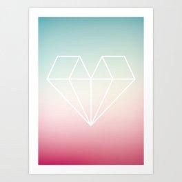 Diamond Heart Art Print