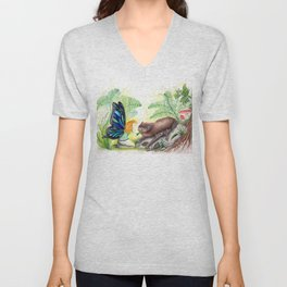 The fairy and the bat Unisex V-Neck