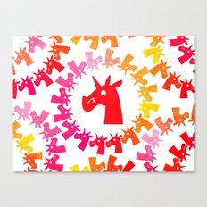 Color Me Red Unicorn Canvas Print