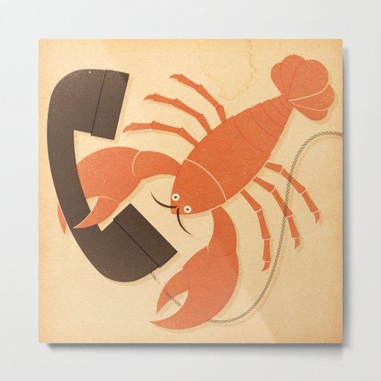 Lobster Salvador Metal Print