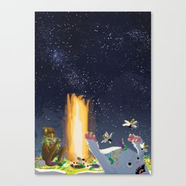 Eternal Birthday Unexpected Guests Canvas Print
