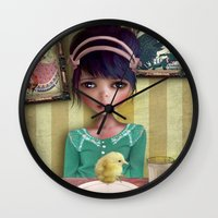 chicken Wall Clocks featuring Chicken by solocosmo