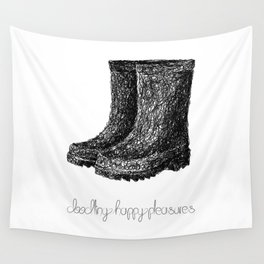 Rainboots Doodle Wall Tapestry