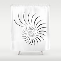 shell Shower Curtains featuring Shell by Andrew Formosa