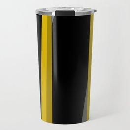 yellow gray and black Travel Mug