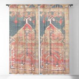 Konya Central Anatolian Niche Rug Print Sheer Curtain