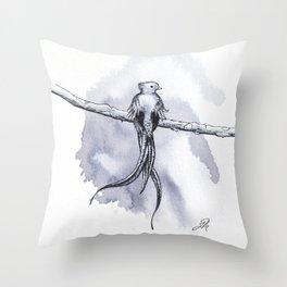 Resplendent Quetzal Throw Pillow