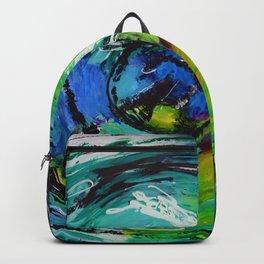 L'œil sur le futur, acrylique / Eye on the futur, Acrylic artwork Backpack