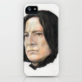 Severus Snape, Alan Rickman portraitoriginal art print iPhone Case