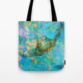 Sea Turtle Over Atlantis Tote Bag