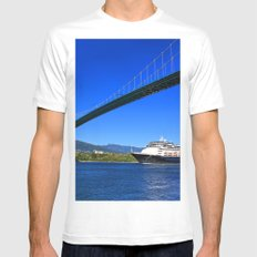 Lions Gate Bridge Mens Fitted Tee White MEDIUM