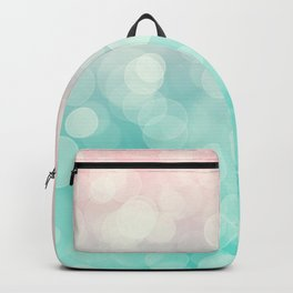 Pink Aquamarine Ombre Bokeh Backpack