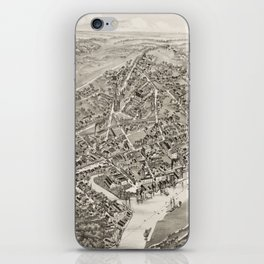 Vintage Map of Port Chester NY (1882) iPhone Skin