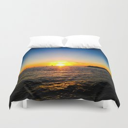 Toast to the Sunset Duvet Cover