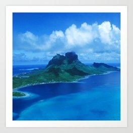 Bora Bora Tropical Island Paradise Heavenly View Art Print