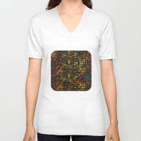 mosaic V-neck T-shirts featuring Mosaic by Klara Acel