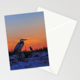 Herons chillin Stationery Cards