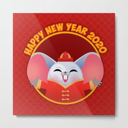 NEW YEAR 2020 Year of the rat Metal Print