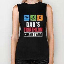 Dads Triathlon Supporters Family Cheer  Biker Tank