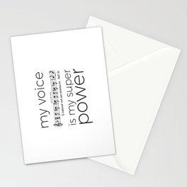 My voice is my super power (mezzo soprano, white version) Stationery Cards