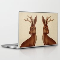 jackalope Laptop & iPad Skins featuring Jackalope by Sarah DC
