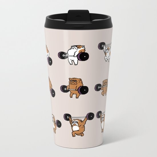 OLYMPIC LIFTING English Bulldog Metal Travel Mug
