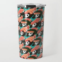 Sushi Panda Pattern Travel Mug
