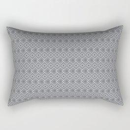 Damond Eye - White on Grey Rectangular Pillow