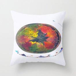 Autumn Circle Throw Pillow