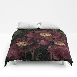 Three peonies Comforters