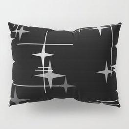 Mid Century Modern Stars (Black) Pillow Sham