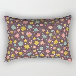 Purple Pastel Daisy Flowers Rectangular Pillow