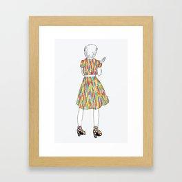 a girl in a dress Framed Art Print