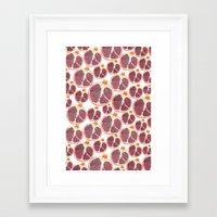 pomegranate Framed Art Prints featuring pomegranate by austeja saffron