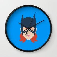Batgirl Minimalist Design Wall Clock