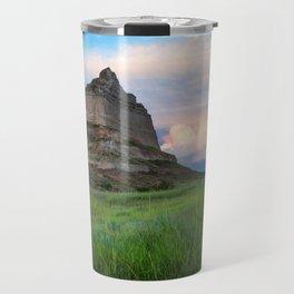 Scottsbluff - Landscape in Evening Light in Western Nebraska Travel Mug