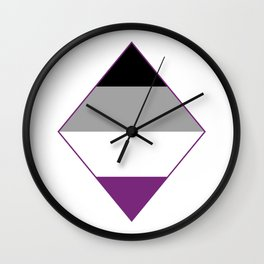 Asexual Diamond Wall Clock