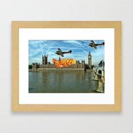Houses of Parliament London Framed Art Print
