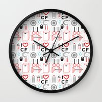 crossfit Wall Clocks featuring CrossFit Love by Golden Heart