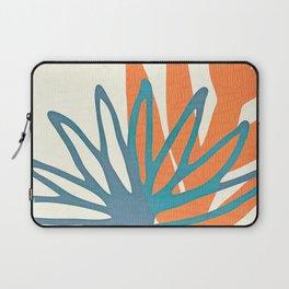 Mid Century Nature Print / Teal and Orange Laptop Sleeve