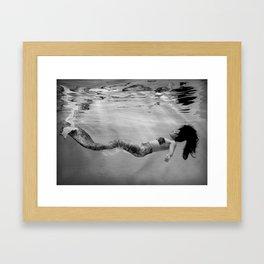 Mermaid Among us (float) Framed Art Print