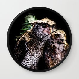 Avian Allies Wall Clock