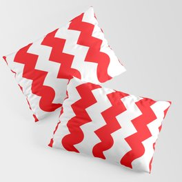 ZigZag-red soft Pillow Sham