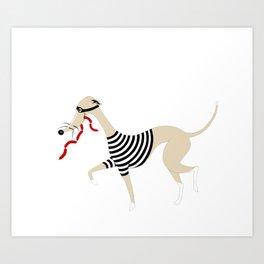 Whippet Thief Art Print