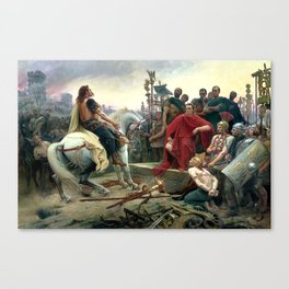 Vercingetorix Throws Down His Arms At The Feet Of Julius Caesar Canvas Print