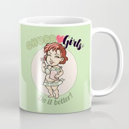 "CHUBBY GIRLS ""DIB - Eat Together"" Coffee Mug"