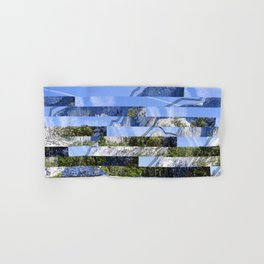 Yosemite Lines Corrupted Hand & Bath Towel